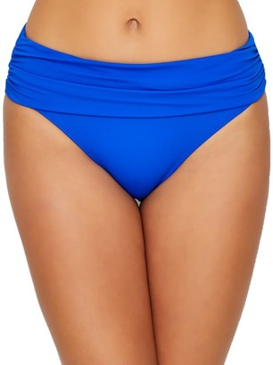 Pour Moi? Santa Monica Solid Fold-Over Bikini Bottom