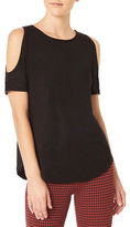 Sanctuary Solid Cold Shoulder Tee