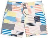 Original Penguin 8-Bit Striped Swim Trunks