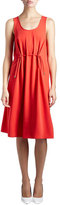 Kenzo Sleeveless Drawstring Jersey Dress, Red
