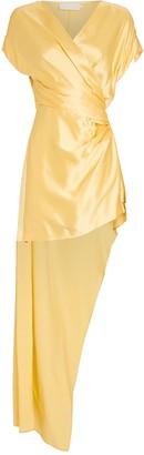 Mason by Michelle Mason Silk Wrap Mini Dress