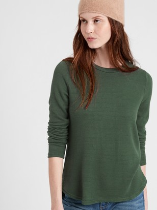 Banana Republic Metallic Luxespun Long-Sleeve T-Shirt