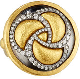 Gurhan Triskele 24k Two-Tone Diamond Cocktail Ring, Size 6.5