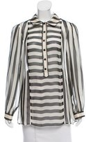 Temperley London Silk Striped Top