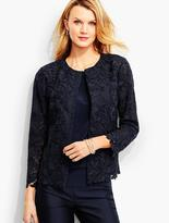 Talbots Flower & Leaf Lace Jacket