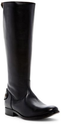 Frye Women's Casual boots BLACK - Black Melissa Button Back-Zip Wide-Calf Leather Boot - Women