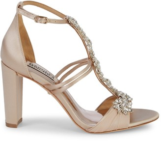 Badgley Mischka Laney Satin & Crystal Sandals