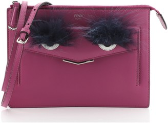Fendi Monster Crossbody Bag Leather