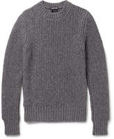 Tom Ford Slim-Fit Ribbed Mélange Cashmere and Wool-Blend Sweater