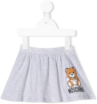 MOSCHINO BAMBINO Logo Flared Mini Skirt