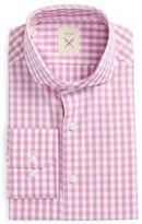 Men's Strong Suit Trim Fit Check Dress Shirt