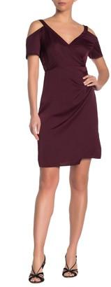 AllSaints Cadia Cold Shoulder Wrap Dress