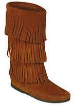 Minnetonka Women's Calf Hi 3-Layer Fringe Boots