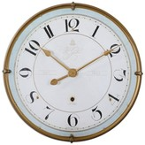 The Well Appointed House Antiqued Gold Round Wall Clock