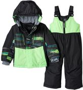 ZeroXposur Baby Boy Blake Colorblock Jacket & Bib Snow Pants Snowsuit Set