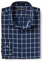 Banana Republic Grant-fit Non-iron Windowpane Shirt