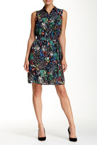 Alexia Admor Sleeveless Floral Shirt Dress