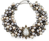 Lydell NYC Crystal & Simulated Pearl Statement Choker