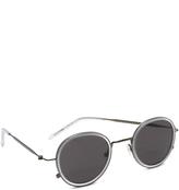 Tomas Maier Eye Rim Round Sunglasses