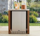 Pottery Barn Abbott Outdoor Kitchen Refrigerator Cabinet, Brown