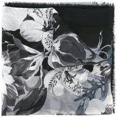Salvatore Ferragamo floral scarf - women - Silk/Wool - One Size