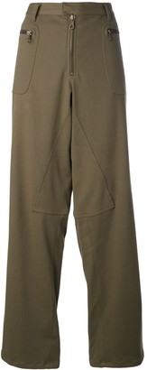 Romeo Gigli Pre-Owned dropped crotch wide trousers