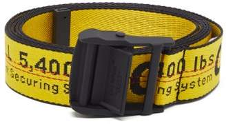 Off-White Off White Industrial Logo-jacquard Canvas Belt - Mens - Yellow