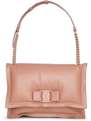 Salvatore Ferragamo Viva bow bag new blush