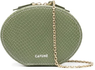 Cafune Snakeskin Oval Clutch Bag