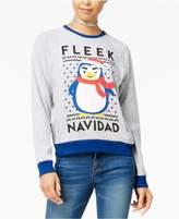 Mighty Fine DOE Juniors' Fleek Navidad Raglan Sweatshirt
