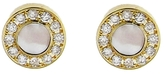 Jennifer Meyer Pearl & Diamond Mini Circle Stud Earrings