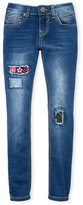Vigoss Girls 7-16) Embroidered Patch Skinny Jeans