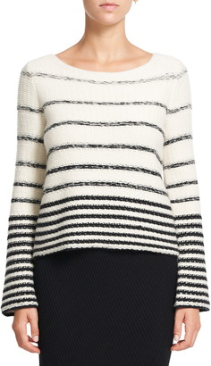 Theory Uneven Stripe Wool Sweater