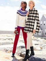 Talbots Fringed Snowflake Fair Isle Sweater