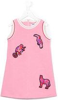 MSGM animal appliqué dress - kids - Cotton - 4 yrs