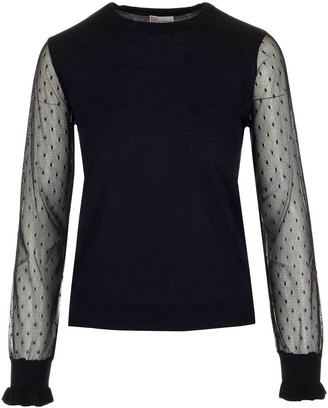 RED Valentino Tulle Sleeved Jumper
