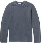 Boglioli Ribbed Wool, Silk And Cashmere-blend Sweater - Blue