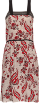 Vanessa Bruno Ecura ivy-print silk-crepe dress