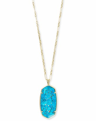 Kendra Scott Faceted Reid Necklace Gold/Jade Green Illusion One Size