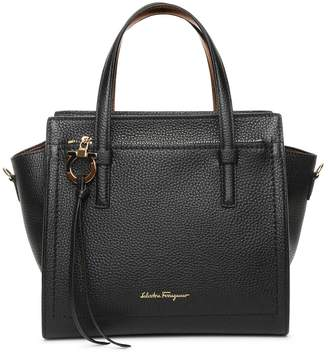Salvatore Ferragamo Amy S black leather tote bag