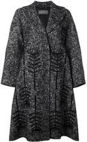 Alberta Ferretti floral detail coat