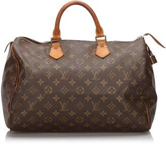 Louis Vuitton Brown Monogram Speedy 35