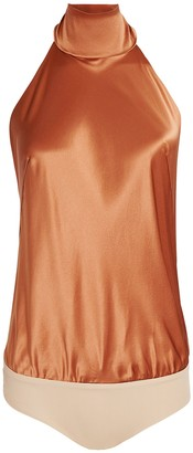 Alix Laight Silk Halter Bodysuit