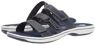 Clarks Brinkley Coast Boxed (Navy Synthetic) Women's Sandals