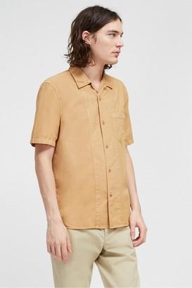 French Connection Garment Dye Poplin Short Sleeve Shirt