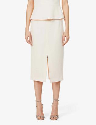 Roland Mouret Moka high-waist wool-crepe midi skirt