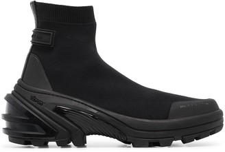 Alyx Sock-Style Knit Ankle Boots