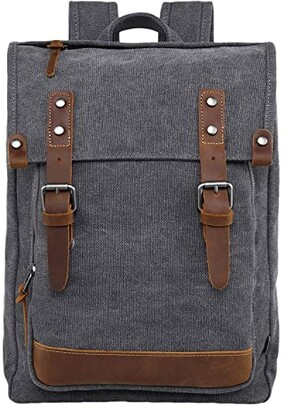 TSD BRAND Discovery Canvas Backpack (Grey) Backpack Bags