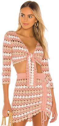 Lovers + Friends Plume Crochet Sweater