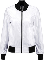 Rebecca Minkoff Nova reversible printed mesh and shell bomber jacket